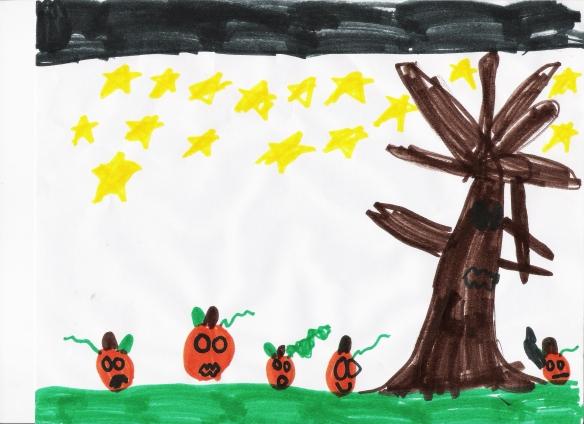 Crazy pumpkins, crazy kid